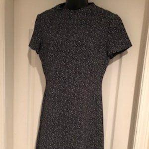 Theory 'Apalia' Zipper Dress - EUC - Blk/Wht Sz 6